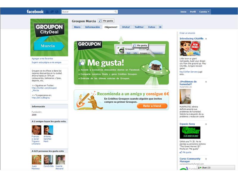 Groupon Murcia en Facebook