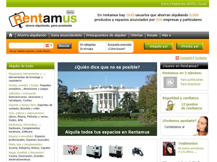 Rentamus es una comunidad de alquiler online