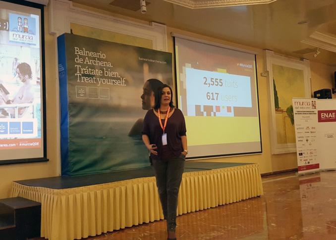 María Redondo en su ponencia sobre estrategia digital