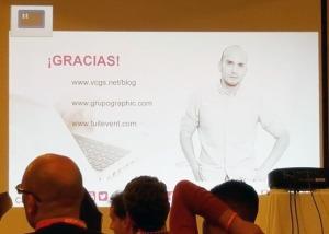 Despedida de la presentación de Víctor Campuzano sobre Growth Hacking