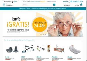 Página web de Ortopedia Plus