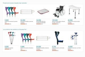 Parte del catálogo de productos que ofrece Ortopedia Plus