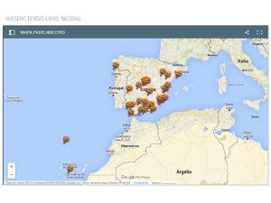 Mapa de tiendas de Padel Nuestro