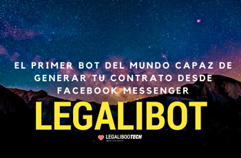 Legaliboo Tech lanza el primer bot para Facebook Messenger que crea contratos legales personalizados