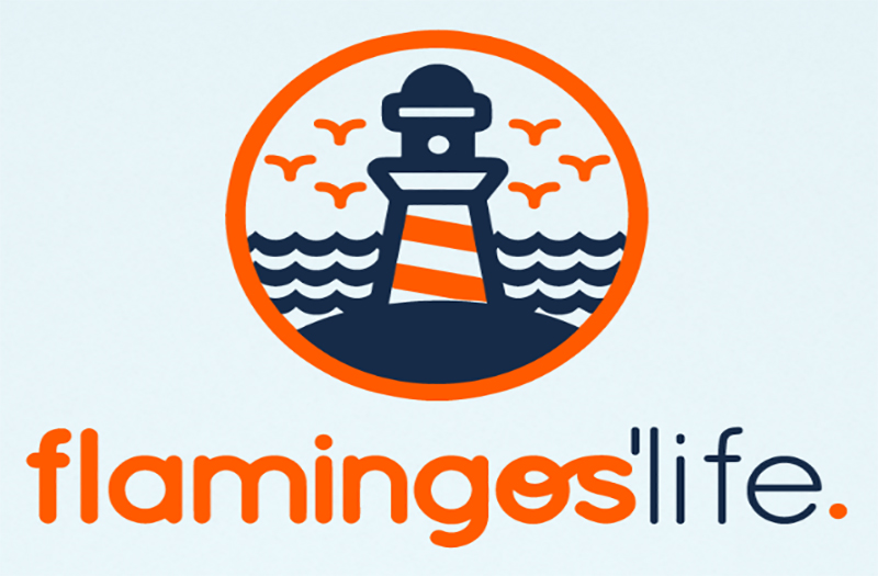 Logotipo Flamingos Life