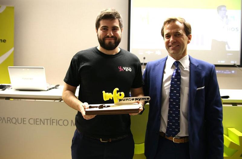 Yavino obtiene el Premio Emprendedor Excelente de la Red Puntopyme