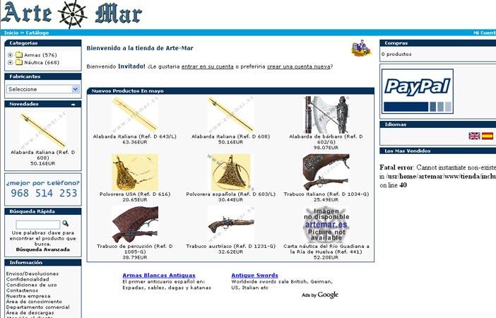 Tienda on-line de Artemar.es